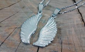 angyalszárny ezüst medál