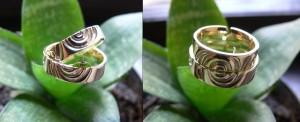 14k arany karikagyűrű pár
